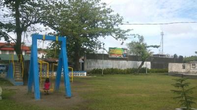Lone swinger on a swing