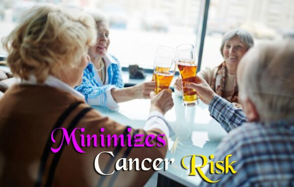 beer for minimizes cancer risk