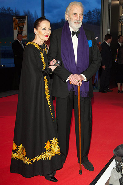Sir Christopher Lee, 90, and Birgit Kroencke Lee, 77
