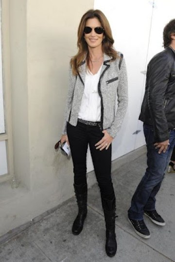 Cindy Crawford in the Hart Biker Jacket