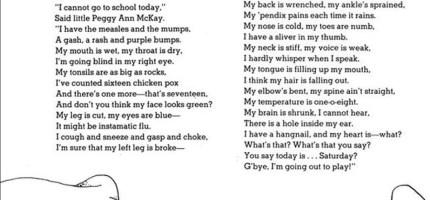 【韻文詩句練語感】千金A超愛英文詩:謝爾‧希爾弗斯坦的「SICK 生病」