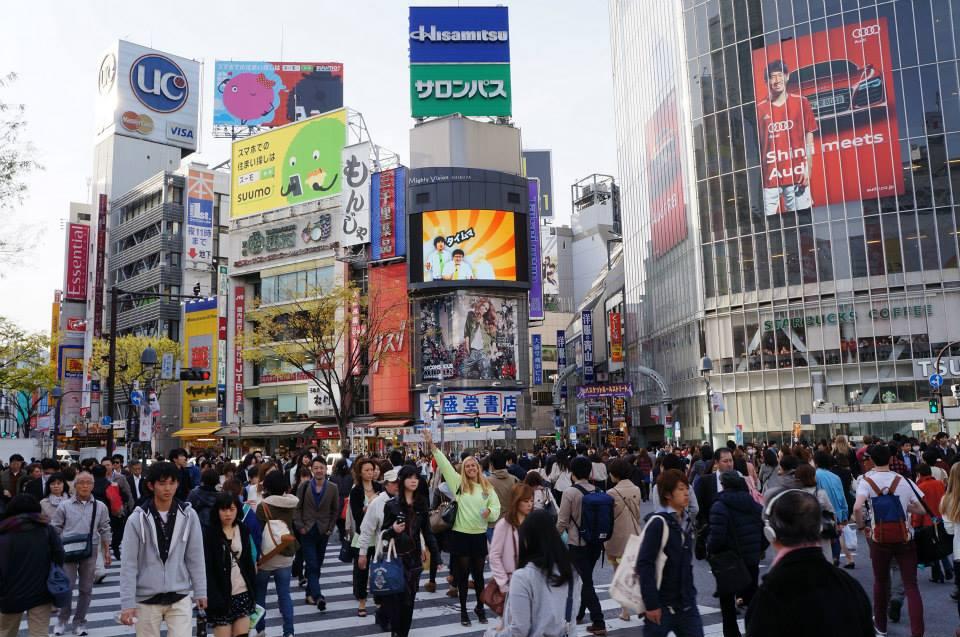 Famoso cruzamento em Tóquio Giulia Sampogna - Japao