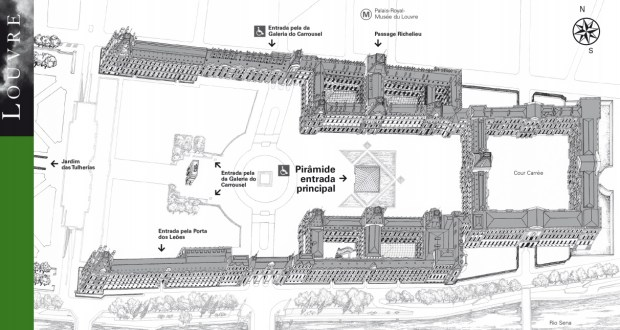 Mapa oficial do Louvre