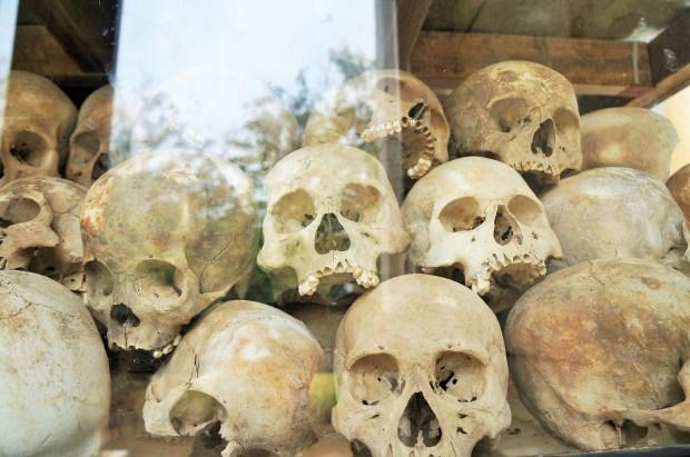 Cranio dos mortos no campo de morte