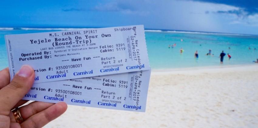 Fazer ou não as excursões do Cruzeiro - tickets