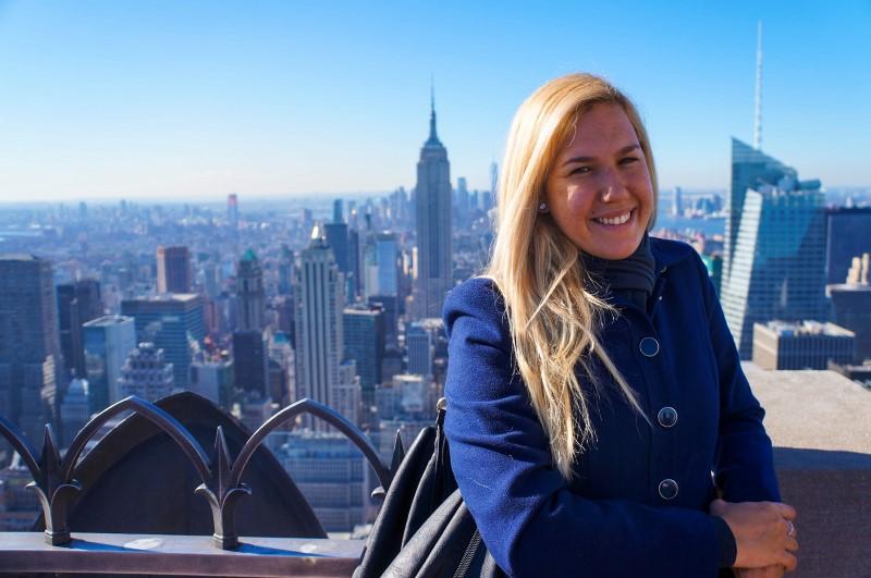 Giulia Sampogna no Top of the Rock em Nova York   Like Wanderlust