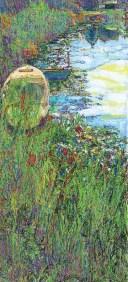 Velimir Trnski: '' Tišina na jezeru '', 89 x 40 cm, ulje i akril na platnu, 2016.