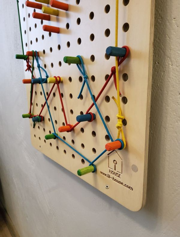kids activity pegboard