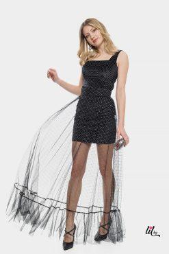 Дълга вечерна рокля в две части