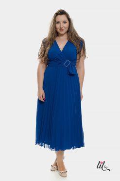Синя вечерна рокля