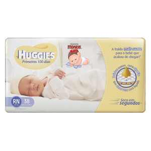 Fralda Huggies Soft Touch Primeiros 100 Dias RN 38 Fraldas