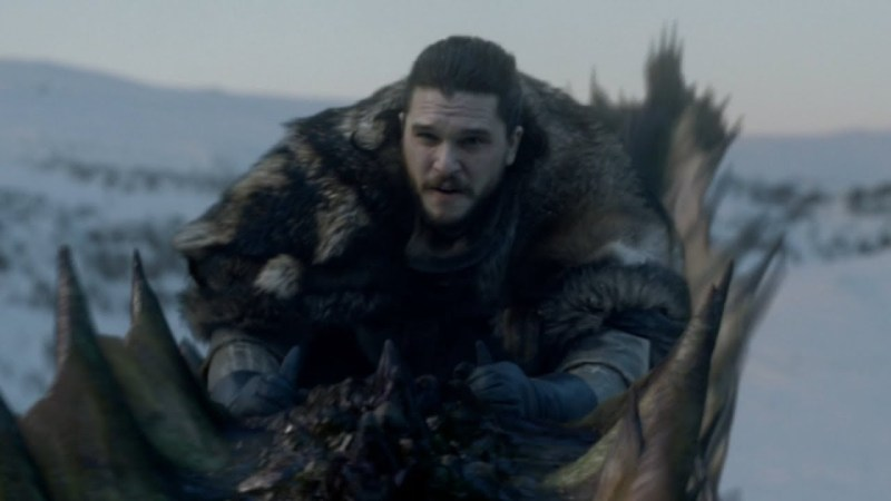 Jon Riding Rhaegal
