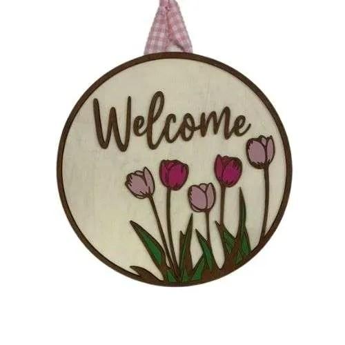Spring Welcome Door Hanger