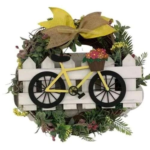 Spring Bike Wreath