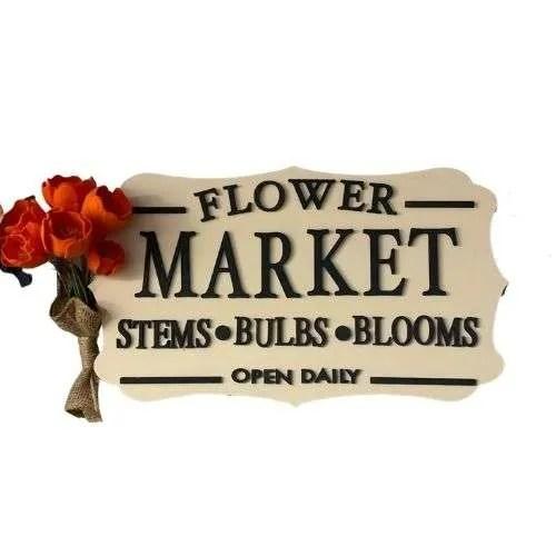 Flower Market Sign