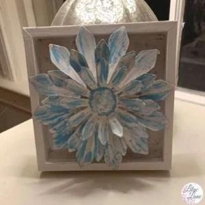 flower shadow box by Lilac Lane DIY