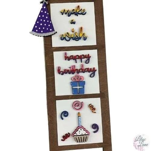 Happy Birthday Interchangeable Ladder Pieces