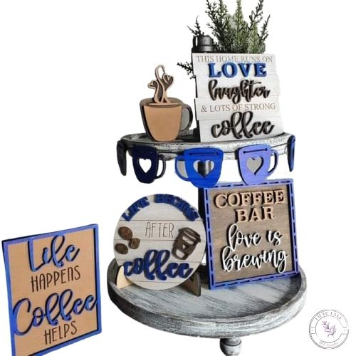 Coffee Tiered Tray Set