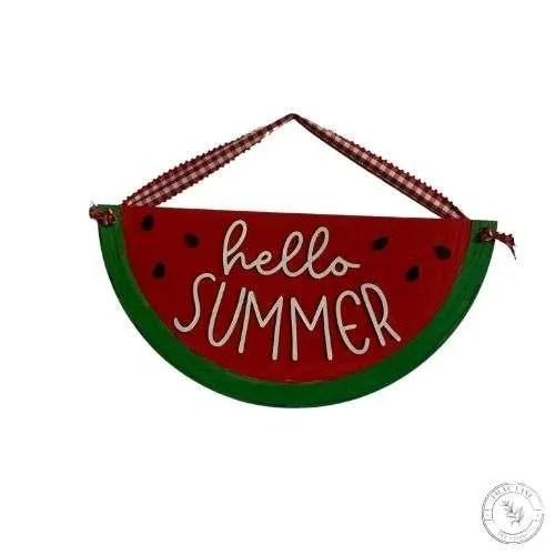 Hello Summer Watermelon Door Hanger