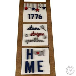 Patriotic Ladder Tile Set