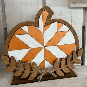 Mosaic pumpkin with stand