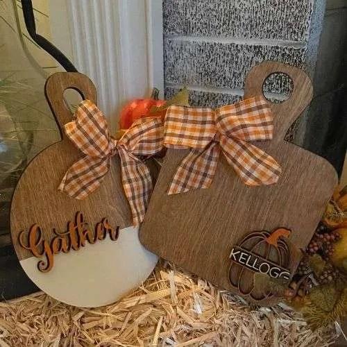 Pair of mini fall cutting boards