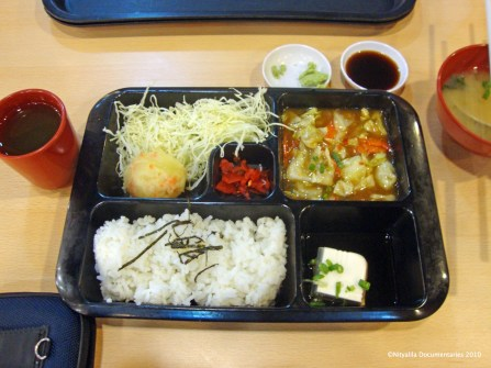 Typical japanese vegetarian plate in KL, Malaysia.