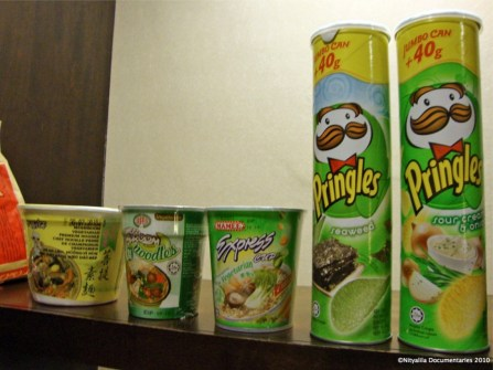 Vegetarian junk food. Only in Malaysia!