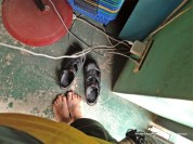 Tired feet and an opportunity to charge my iphone at the local convenient store. The staff were very accommodating.