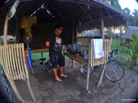 Kubo accommodations on Sabang Beach. One kubo can fit 4 pax.