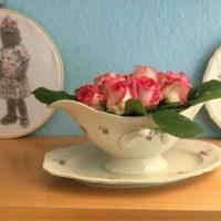 Freutag: Lilamalerie in der Brigitte - oder - Friday-Flowerday: Die ersten Freilandrosen