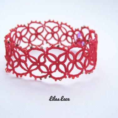 tatting lace bracelet