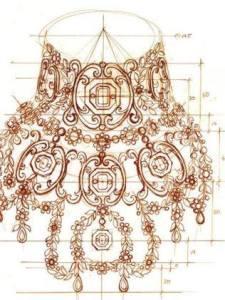 Dessin de Canturi pour le collier Moulin Rouge
