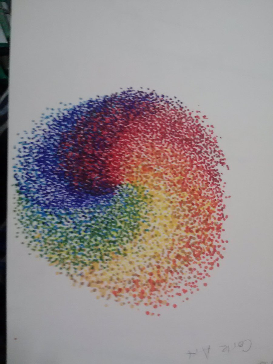 Pointillism Demonstration A Study Of Color Lilas Art