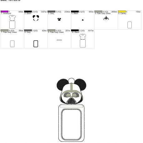 Dark one mouse id holder 5×7