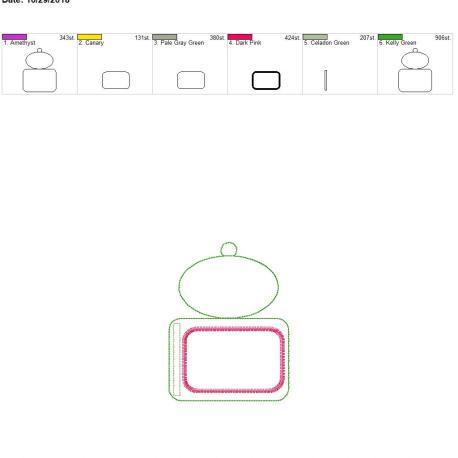 Plain oval horizontal id holder 5×7