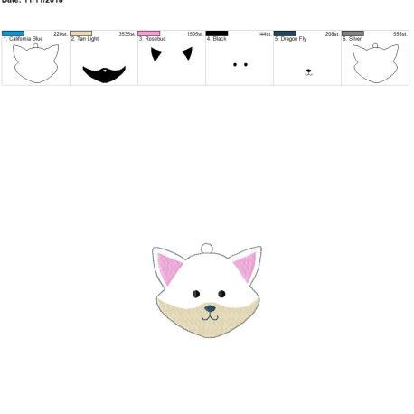 Winter fox ornament 4×4