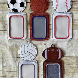 ITH Sports ID holder/luggage tag – 5 x 7 – Embroidery Design – DIGITAL Embroidery design