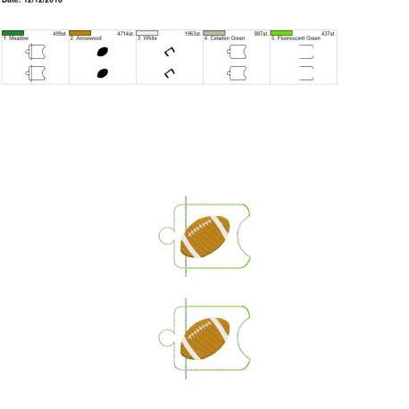 Football Sanitizer Holder eyelet 5×7 grouped