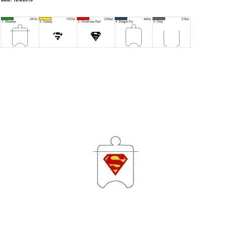 Super Hero Sanitizer Holder eyelet 4×4