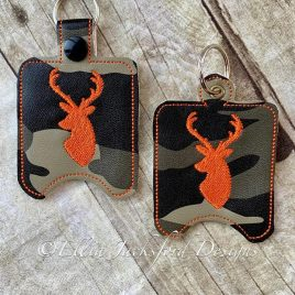 ITH Deer Sanitizer Holder 4×4 and 5×7 included- Embroidery Design – DIGITAL Embroidery DESIGN