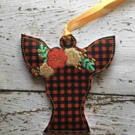 ITH -Floral Deer Ornament 4×4 only