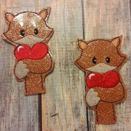 ITH Valentine Boy Fox Pencil Topper 4×4 and 5×7 included- Embroidery Design – DIGITAL Embroidery DESIGN