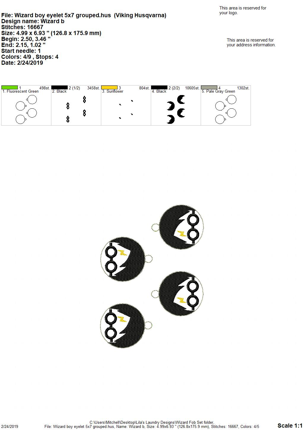 ITH – Wizard Fobs Set of 3