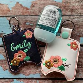ITH Floral Sanitizer Holders 4×4 and 5×7 included- Embroidery Design – DIGITAL Embroidery DESIGN
