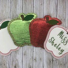 ITH Apple Coaster 4×4 – DIGITAL Embroidery DESIGN