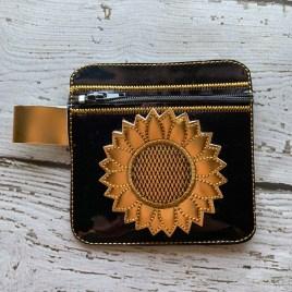 ITH – 3D Sunflower Zipper Bag 4×4 – Digital Embroidery Design