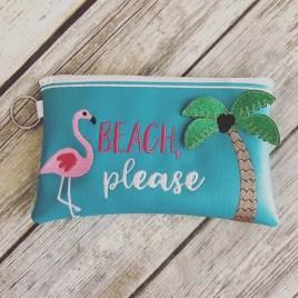ITH – 3D Beach, Please Zipper Bag 4×4, 5×7 and 6×10 – Digital Embroidery Design