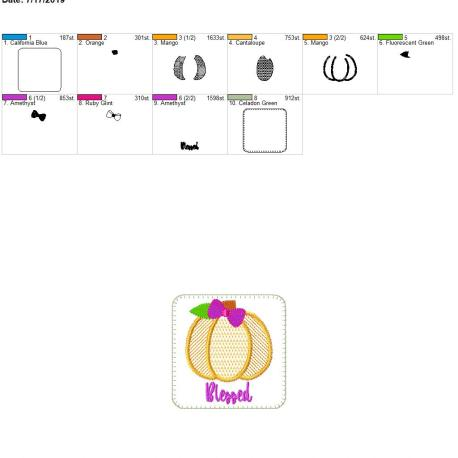 Pumpkin coaster Blessed 4×4 – Copy (2)