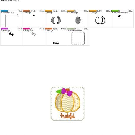 Pumpkin coaster Grateful 4×4 – Copy